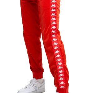 Red kappa joggers